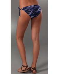 Splendid - Blue Camo Bikini Bottoms - Lyst