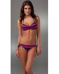 Splendid - Pink Marcel Stripe Bikini Bottoms - Lyst