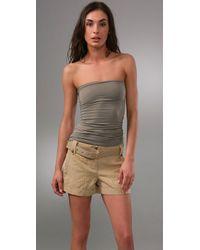 Splendid - Gray Stretch Tube Dress / Skirt - Lyst