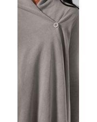 Splendid - Gray Vintage Whisper Button Wrap Cardigan - Lyst