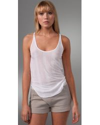 T By Alexander Wang - White Tencel Variegated Rib Tank - Lyst
