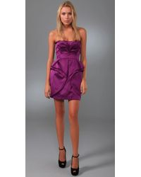 Temperley London | Purple Corry Layered Satin Dress | Lyst