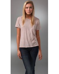 Textile Elizabeth and James | Natural The Perfect Tee | Lyst