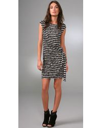 Thakoon   Gray Addition Draped Front Dress   Lyst