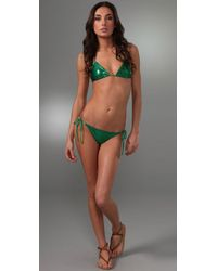 Thayer | Green Triangle Bikini | Lyst