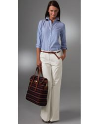 Theory | White Alleen Wide Leg Pants | Lyst