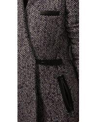 Tibi - Blue Heloise Tweed Jacket - Lyst