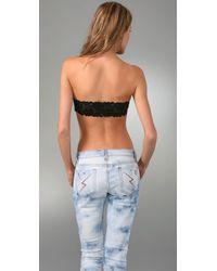 Top Secret - Black Sexy Back Bandeau - Lyst