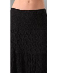 Torn By Ronny Kobo | Black Peasant Lace Long Skirt | Lyst