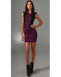 Torn By Ronny Kobo | Purple Julia Striped Dress | Lyst