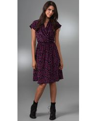 Tucker - Black Cross Front Flowy Dress - Lyst