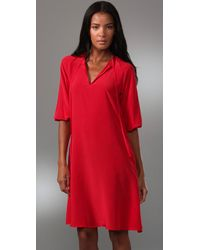 Tucker - Red Story Of Passion Tie Neck Dress - Lyst