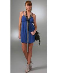 Twelfth Street Cynthia Vincent - Blue Zip Mini Slip Dress - Lyst