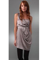Twelfth Street Cynthia Vincent - Purple One Shoulder Corset Dress - Lyst