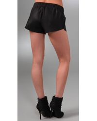 VEDA - Black Florida Leather Shorts - Lyst
