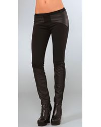 VEDA | Black Leather Joker Pants | Lyst
