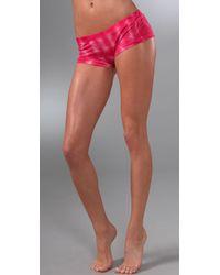Velvet By Graham & Spencer - Pink Angie Tie Dye Shorts - Lyst