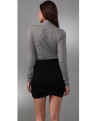 Velvet By Graham & Spencer - Gray Samara Draped Wrap Shirt - Lyst