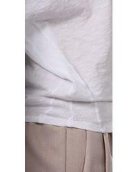 Velvet By Graham & Spencer | White Joss Oversized Top | Lyst