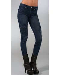 VINCE | Blue Ankle Cargo Skinny Jeans | Lyst