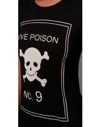 Wildfox | Black Love Poison Tee | Lyst