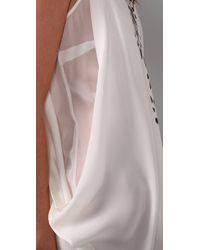 Willow | White Drop Sleeve Drape Dress | Lyst