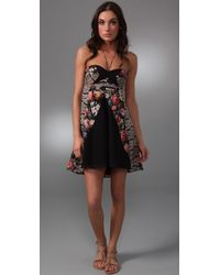 Zimmermann - Black Ebony Rose Splice Cover Up - Lyst