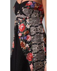 Zimmermann - Black Ebony Rose Splice Cover Up - Lyst
