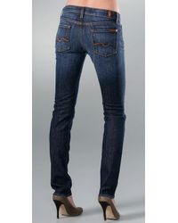 7 For All Mankind | Blue Roxanne Skinny Slimmer Jeans | Lyst