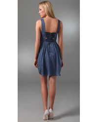 Alice + Olivia - Blue Bella Silk-chiffon Dress - Lyst