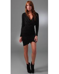 Beyond Vintage | Black Drape Wrap Dress | Lyst