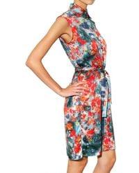 Erdem - Multicolor Blossom Print Satin Dress - Lyst
