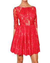 Erdem | Red Anneli Printed Silk Dress | Lyst