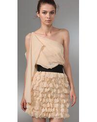 Foley + Corinna - Metallic Asymmetrical Party Dress - Lyst