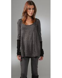 Free People | Gray Fly Far Away Tunic | Lyst