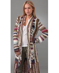 Free People - Multicolor Technicolor Dreamcoat Cardigan - Lyst