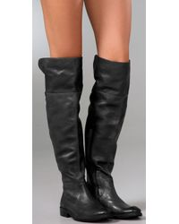 Frye - Black Shirley Over-the-knee Riding Boots - Lyst