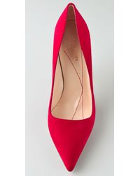 kate spade new york | Red Licorice Suede Pumps | Lyst