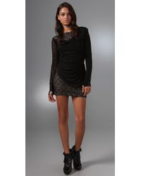 L.A.M.B. | Black Lace Long Sleeve Dress | Lyst