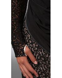 L.A.M.B. | Black Lace Long Sleeve Dress | Lyst