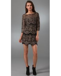 Larok | Metallic Lace Maze Dress | Lyst