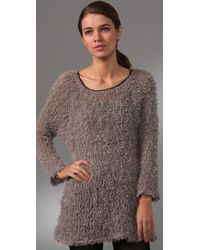 Leyendecker | Brown Rush Sweater Tunic | Lyst