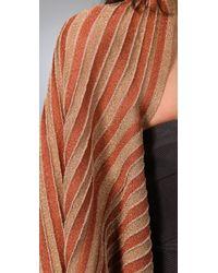 M Missoni - Metallic Stripe Shrug - Lyst