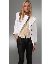 Nanette Lepore | White Hideaway Jacket | Lyst
