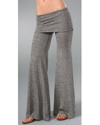 Nightcap | Gray Fold Over Flare Pants | Lyst