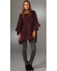 Opening Ceremony - Purple Loopy Knit Pullover Sweater - Lyst