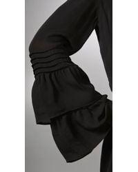 Parker | Black Double Flared Sleeve Dress | Lyst