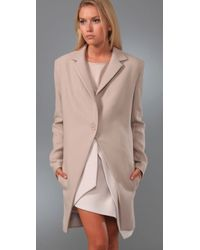 Preen By Thornton Bregazzi | Natural Tailcoat Crombie Wool-crepe Jacket | Lyst