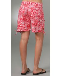 Pret-a-surf - Red Tropical Long Shorts - Lyst