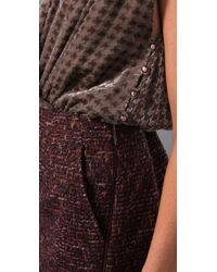 Rachel Roy | Purple Mix Media Soft V Dress | Lyst